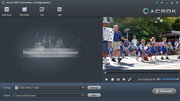 Play MXF video in Windows Media Player 12